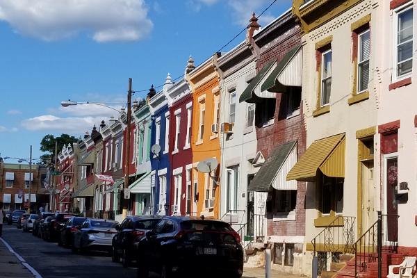 Row of houses in Strawberry Mansion, Philadelphia